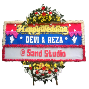 Bunga Papan Happy Wedding (HW001)