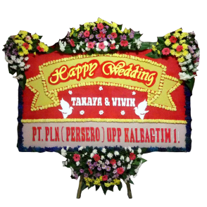 Bunga Papan Happy Wedding (HW003)