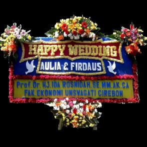 Bunga Papan Happy Wedding (HW002)