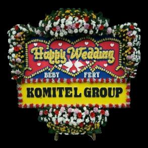Bunga Papan Happy Wedding (HW007)