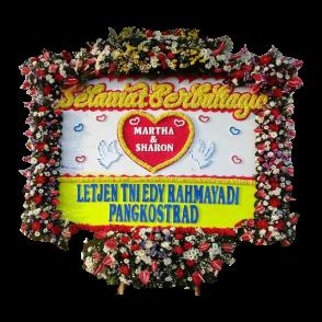 Bunga Papan Happy Wedding (HW012)