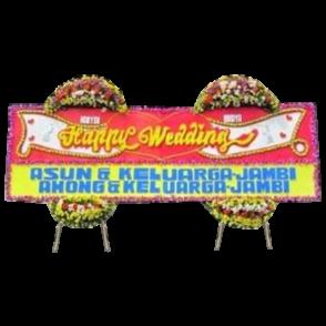 Bunga Papan Happy Wedding (HW010)
