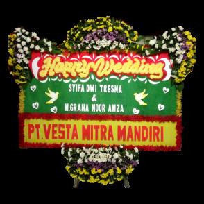 Bunga Papan Happy Wedding (HW005)